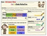 Grammar Activity: Nouns, Verbs, Adjectives, and Adverbs