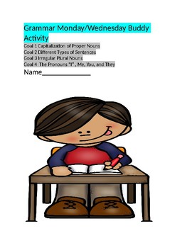 Grammar Activity for Third Grade