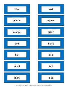 Grammar Adjectives List/Labels