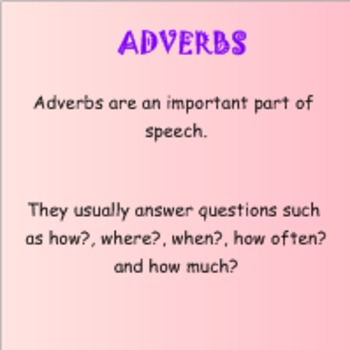 Grammar: Adverbs