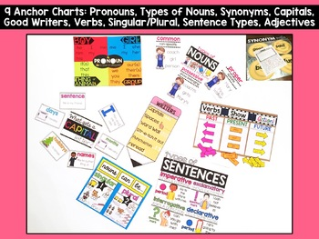 Grammar Anchor Charts for 1st Grade