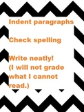 Grammar Anchor Charts with Chevron