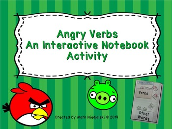 Grammar: Angry Verbs Interactive Notebook Activity