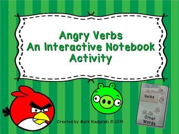 Grammar: Angry Verbs Interactive Notebook Activity