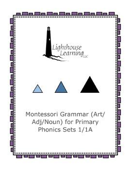 Montessori Grammar (Article/Adjective/Noun) for Primary Ph