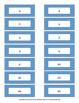 Grammar Article List/Labels