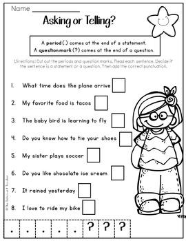 Grammar: Asking or Telling Sentences