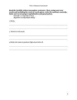Grammar Assessment I