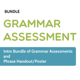 Grammar Assessment: Intro Bundle of Grammar Pretests and Handout/Poster
