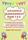 Grammar Assessment Quiz Grade 1 & 2