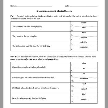 Grammar Assessments