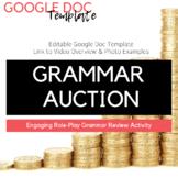 Editable Grammar Auction Template + Video Overview