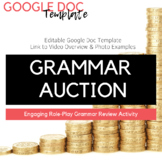 Editable Grammar Auction Template + Video Overview