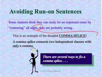 Grammar - Avoiding Run-On Sentences PPT