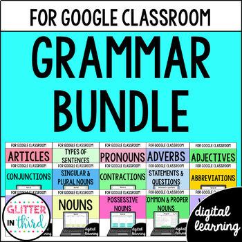 Grammar BUNDLE for Google Drive & Google Classroom