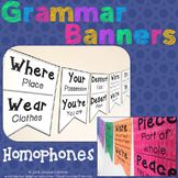 Grammar Banners: Homophones and Commonly Misused Words Posters