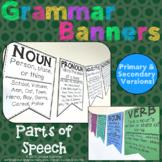 Grammar Banners: Parts of Speech Posters