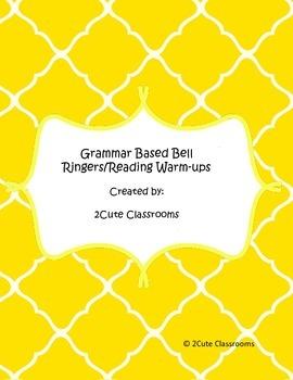 Grammar Based Bell Ringer/High Interest  Warm-Up