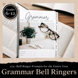 Grammar Bell Ringer Journal for Entire School Year GRADES