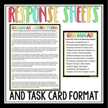 GRAMMAR BELL RINGERS PRESENTATION AND TASK CARDS