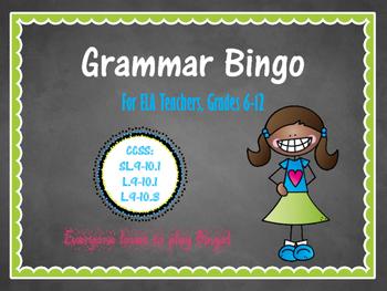 Grammar Bingo