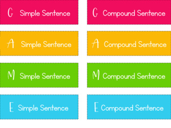 Grammar Bingo Game with Student Notes {Types of Sentences}