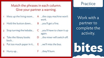 Grammar Bites: Level 3 - Using And or Or to Warn Someone