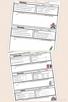 Grammar Bits and Pieces Weeks 1-4, Daily Review, Warm Up - Lessons & Printables