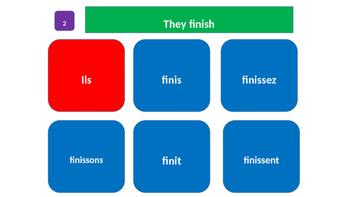 Grammar Blocks FRENCH Present Tense IR verb Conjugation 1