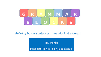 Grammar Blocks FRENCH Present Tense RE verb Conjugation 1