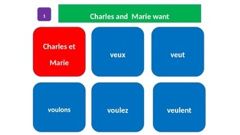 """Grammar Blocks - French Vouloir with emphasis on """"food and partitives"""""""
