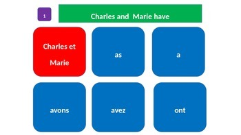 """Grammar Blocks - French Avoir with emphasis on """"classroom"""" vocabulary"""