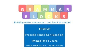 "Grammar Blocks - French Immediate Future with emphasis on ""Top 50"" verbs"