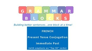 """Grammar Blocks - French Immediate Past with emphasis on """"T"""