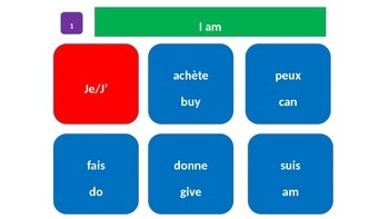 Grammar Blocks - French It's All About Me (student autobiography)