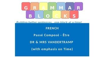 Grammar Blocks - French Passé Composé ETRE 2 (with emphasis on time)