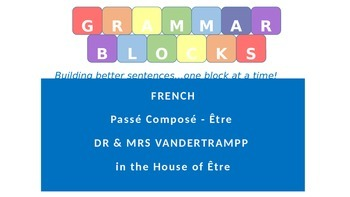 Grammar Blocks - French Passé Composé ETRE