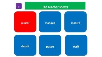 Grammar Blocks - French Present Tense (Top 50 verbs) Verb Conjugation 2