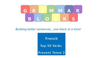 Grammar Blocks - French Present Tense (Top 50 verbs) Verb