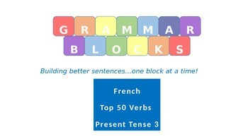 Grammar Blocks - French Present Tense (Top 50 verbs) Verb