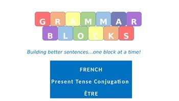 Grammar Blocks - French être with emphasis on Adjective Agreement