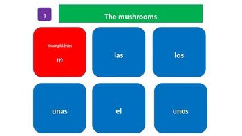 Grammar Blocks - Spanish Articles