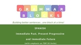 Grammar Blocks - Spanish Immed. Past, Present Progressive, Immed. Future