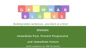 Grammar Blocks - Spanish Immed. Past, Present Progressive,