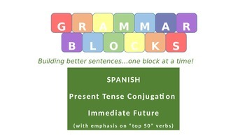 "Grammar Blocks - Spanish Immediate Future with emphasis on ""Top 50"" verbs"