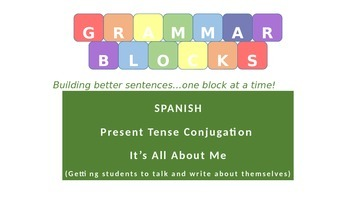 Grammar Blocks - Spanish  It's All About Me (student autobiography)