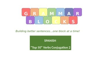 Grammar Blocks - Spanish Present Tense Conjugation 2