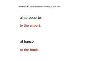 "Grammar Blocks - Spanish Present Tense Ir w/ emphasis on ""places in town"" vocab"