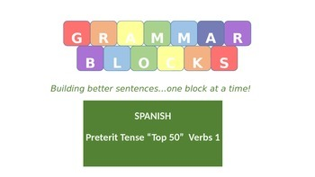 Grammar Blocks - Spanish Preterit Tense Conjugation 1