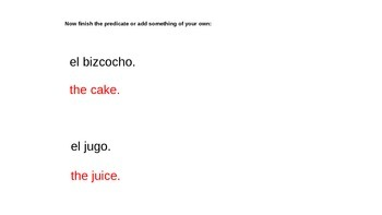 "Grammar Blocks - Spanish Querer with emphasis on ""food"" vocabulary"